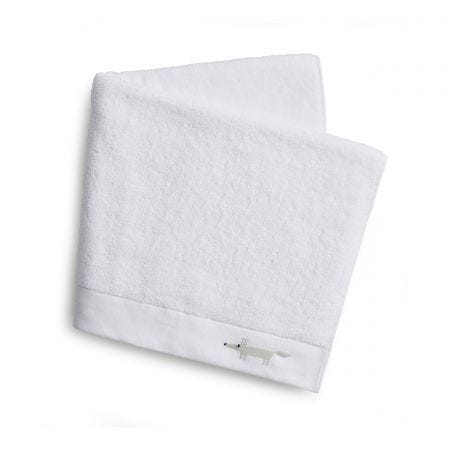 Mr Fox Embroidered Towels White