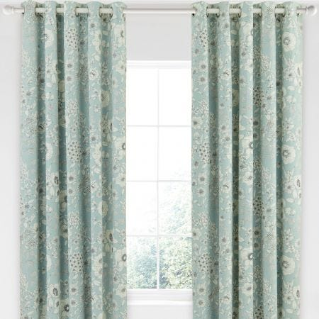 Sanderson Maelee Green Floral Curtains