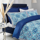 Damas Dream Duvet Cover, Blue