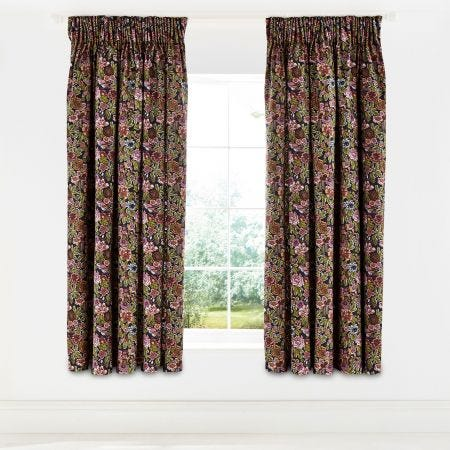 Hawards Garden Aubergine Lined Curtains