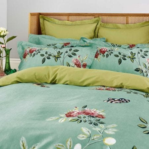 Ornamental Garden Kingsize Duvet Cover, Aqua Green