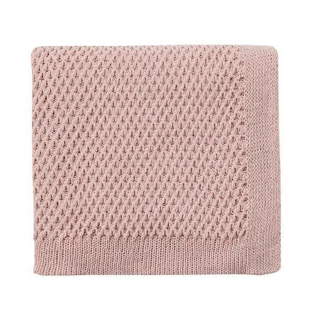 Peony Blossom Silver Knitted Throw