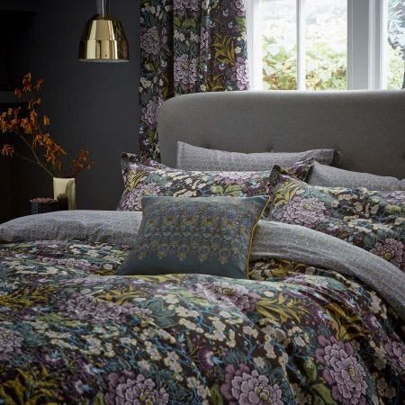 Peony Trail Midnight Head of Bed