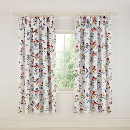 V&A Sweet Geranium Multi Curtains