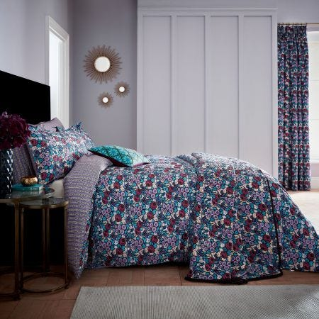 Twilight Garden Lavender Floral Bedding