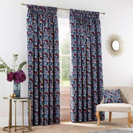 Twilight Garden Lined Curtains