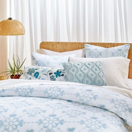 Lotus Blue Bedding