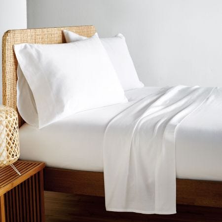 Vitamin Sea White Plain Dye Fitted Sheets