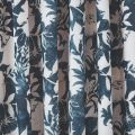 Indigo Blue Floral Curtains Set, Lined