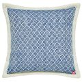 Blue Woven Cushion Front