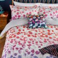 Scattered Hearts Bedding Rainbow