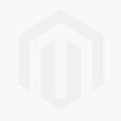 White & Navy Stripe Bedding with Pink Florals
