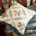 Strawberry Thief Cushion and Throw