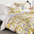 Floral Bedding in Sunshine Yellow & Grey