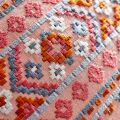 Coral and Linen Cushion Design