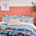 Sky Blue Floral Bedding by Helena Springfield