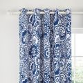 Tilde Blue Lined Eyelet Curtains.