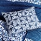 Tile Pattern Cushion, Blue & White