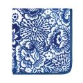 Blue Fleece Throw with Floral Print