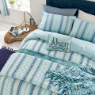 Coastal Blue Striped Bedding