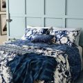 Indigo Blue Floral Bed Linen by Helena Springfield