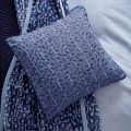 Woven Check Cushion Front Chambray Blue