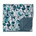 Blue Floral Quilted Throw