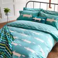 Mr Fox Bedding in Teal