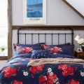 Beau Floral French Navy Head of Bed