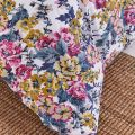 Pink & Yellow Florals on Cream Ground