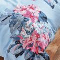 Pale Blue & Pink Floral Bed Linen