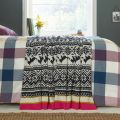 Heritage Peony Geometric Knitted Throw