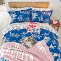 Joules Crayon Floral in Classic Blue