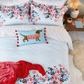 Joules Light Blue & Red Bedding