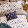 Joules Feathers Bedding with Navy Cushion