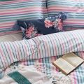Pink, Blue & Green Striped Bedding
