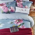 Soft Blue & Pink Floral Duvet Cover by Joules