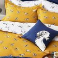 Sketchy Dogs Bedding Antique Gold