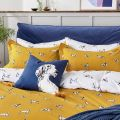 Joules Gold Bedding with Dog Print