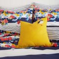 Yellow Puffin Cushion by Joules