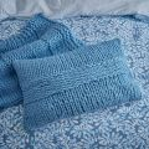 Be Still Chunky Knit Cushion Blue