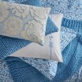 Be Still Foliage Pillow Stack Blue