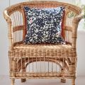 Embroidered Butterfly Print Cushion in Chair