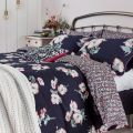 Painted Poppy Bedding in Navy