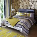 Grey Striped Duvet Cover, Super Kingsize