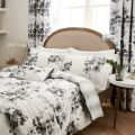 Grey Floral Bedding