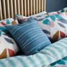 Blue Cushion with Leaf Print Pillowcases