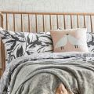 Padu Charcoal Grey Floral Bedding