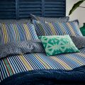 Blue, Yellow & Green Striped Duvet Covers