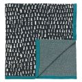 Grey Patterned Knit Throw